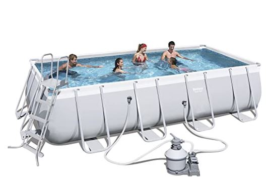 Bestway Piscina Power Steel Frame Rettangolare